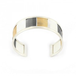 Bracelet tricolour. Silver goldplated, oxidized and Silver -