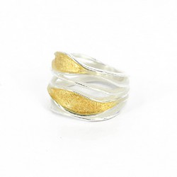 Ring Silver Goldplated