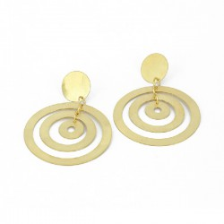Earrings hanging, Silver Goldplated. Spiral Form. Length.: 7 cm - KRK15