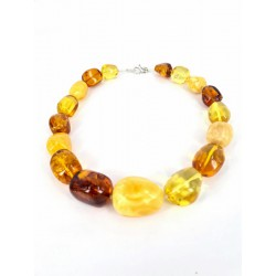 Necklace Baltic Amber high Quality and Silver Carabine Clasp. -