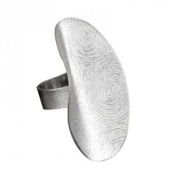 Ring open Silver hand made Fingertouch. Silver 925, Goldplated or oxidized - 23692