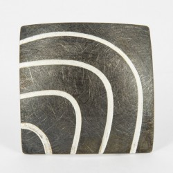 Brooch-Pendant Silver ruthinized. form: square (5 x 50 mm) - 33208
