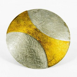 Brooch-Pendant Silver Goldpalted round . Diameter 56 mm - 33213