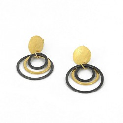 Earrings Silver Goldplated oxidized  - ER1CH1G/OX