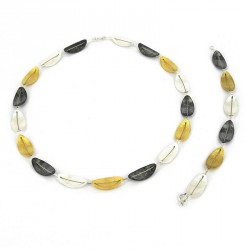 Bracelet Steal and Silver 3 colours -