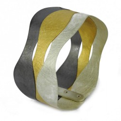 Bracelet Silver 925 Goldplated, oxidized  - RKB5